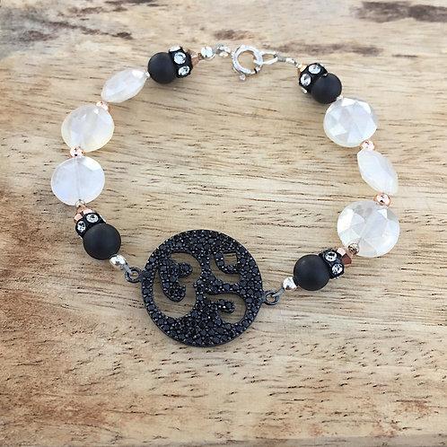 Black & White Om Bracelet