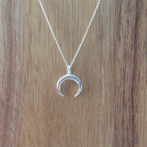 Crescent Horn Moon Necklace