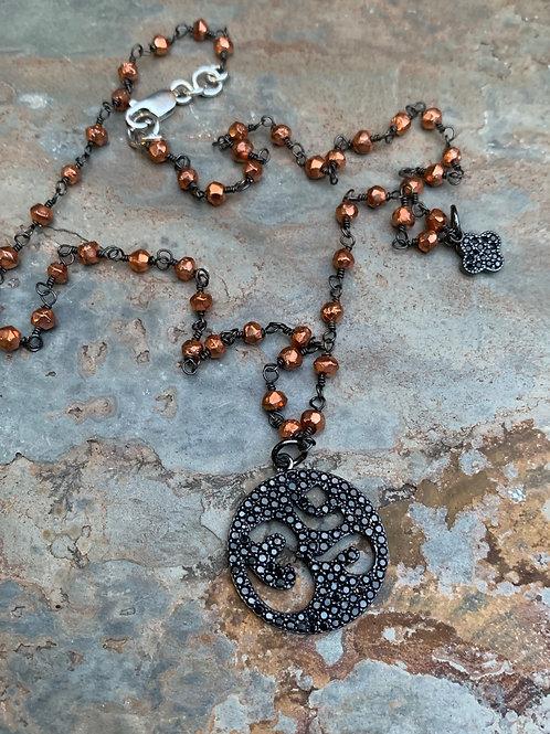 Black & Copper OM Necklace
