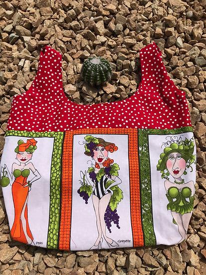 Veggie Ladies 1 Reusable Shopping Bag