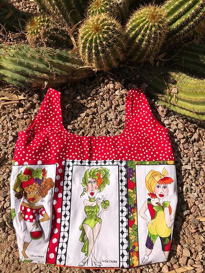 Veggie Ladies Artichoke Reusable Shopping Bag