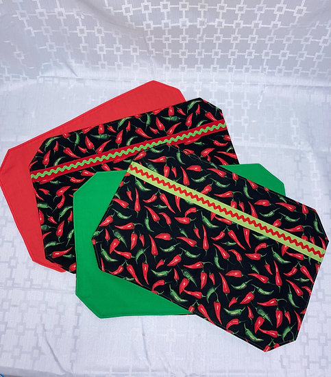Chili Peppers Reversible Placemats