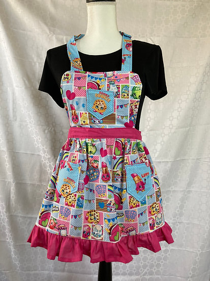 Kids Size Shopkins Full Apron with Bonus Tote Bag