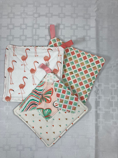 Quilted Reversible Potholders 3