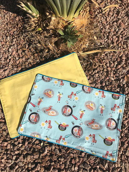 Eggs and Bacon Reversible Placemats