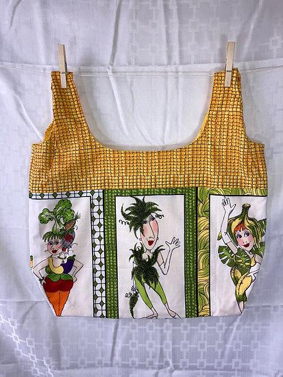 Veggie Ladies Corn Reusable Shopping Bag
