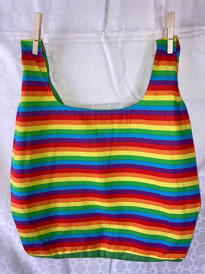 Rainbow Stripe Reusable Shopping Bag