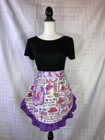 Adult Size Red Hat Club Lunch Half Apron