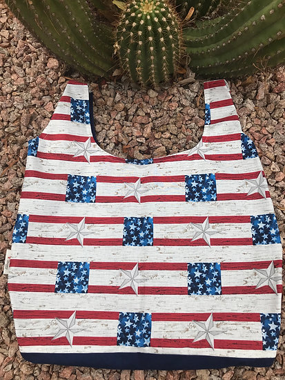 Stars and Stripes Reusable Shopping Bag