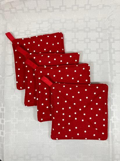Red Polka Dot Potholders