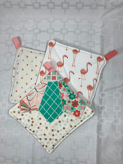 Quilted Reversible Potholders