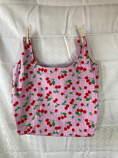 Pink Cherries Reusable Shopping Bag