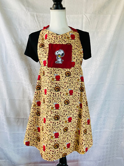 Adult Size Snoopy Thanksgiving Full Apron