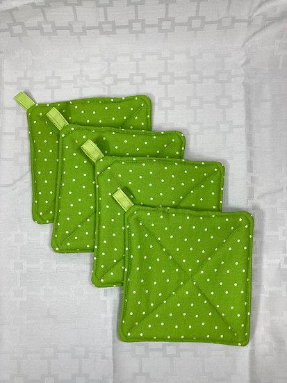 Green Polka Dot Potholders