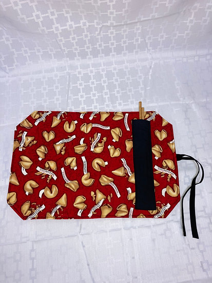 Fortune Cookies Placemat with Chopsticks Holder