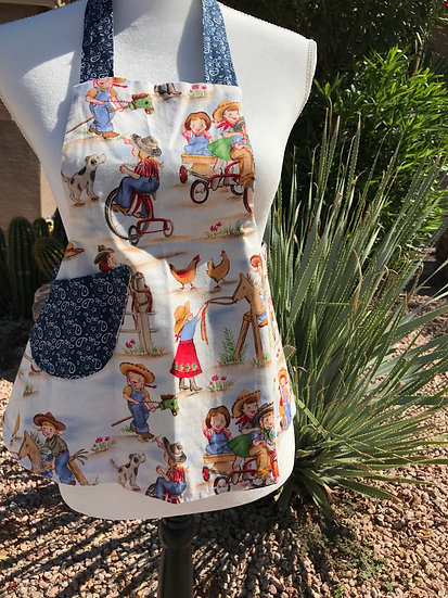 Kids/Toddlers Size Western Full Apron