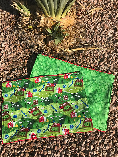 On the Farm Reversible Placemats