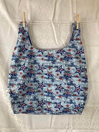Patriotic Stars Reusable Shopping Bag