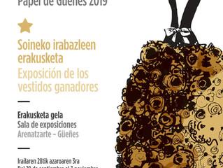 Exposición de los vestidos ganadores en ARENATZarte (Güeñes)