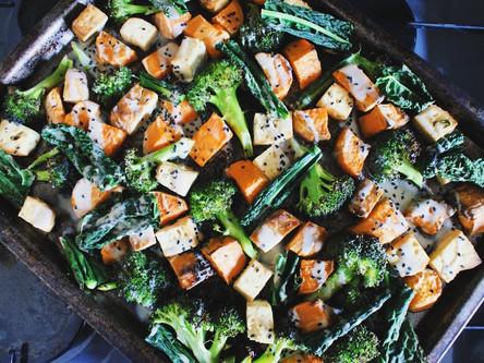 Smoked Tofu Tray Bake