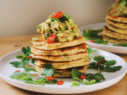 Sweetcorn Pancakes with Guacamole