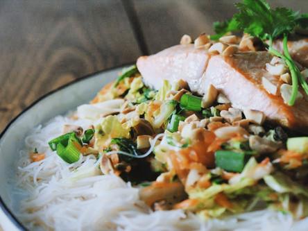 Vietnamese Noodle Salad with Trout