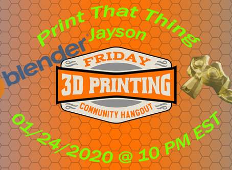 How to become a 3D  Print Designer - LIVE w/ F3DPCH, Chaos Core Tech, TGAW, Paul P, & Seananigans!