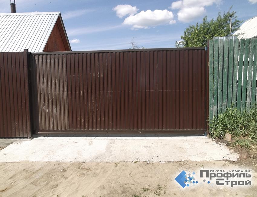 Откатные ворота Федоровка