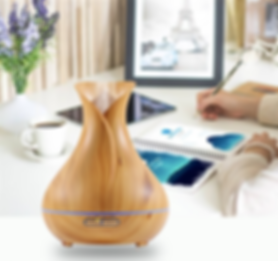 Aroma Diffuser Holz mit 7 Farben und Zeitschaltuhr - easy val.you GbR