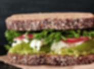 Veganistische sandwich