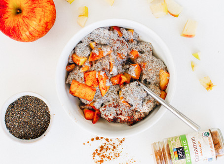 FALL Apple Spiced Chia Pudding