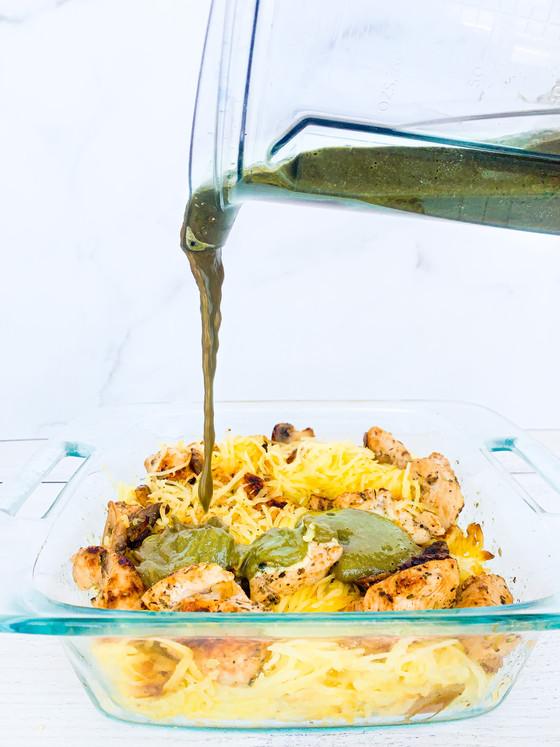 Chimmi-Chicken Spaghetti Squash Dinner