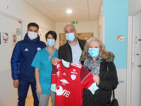 Football : L'USCL au chevet de enfants hospitalisés