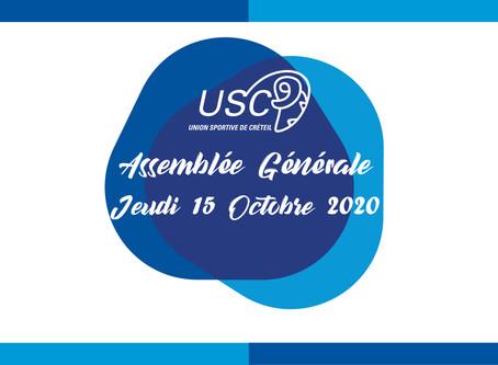 AG de l'US Créteil ce jeudi 15 octobre dès 19h !