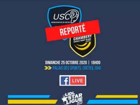 Handball : Créteil/Chambéry reporté...