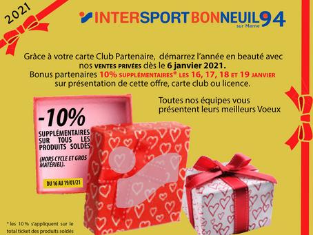 Commencez bien l'année chez Intersport Bonneuil !