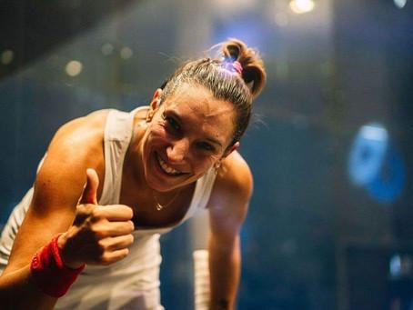 Squash : Camille Serme, tout sourire !