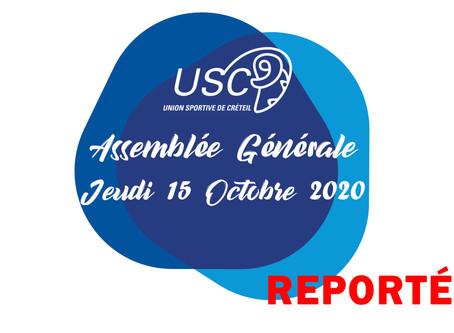 L'AG reportée au 7 novembre prochain à 10h...