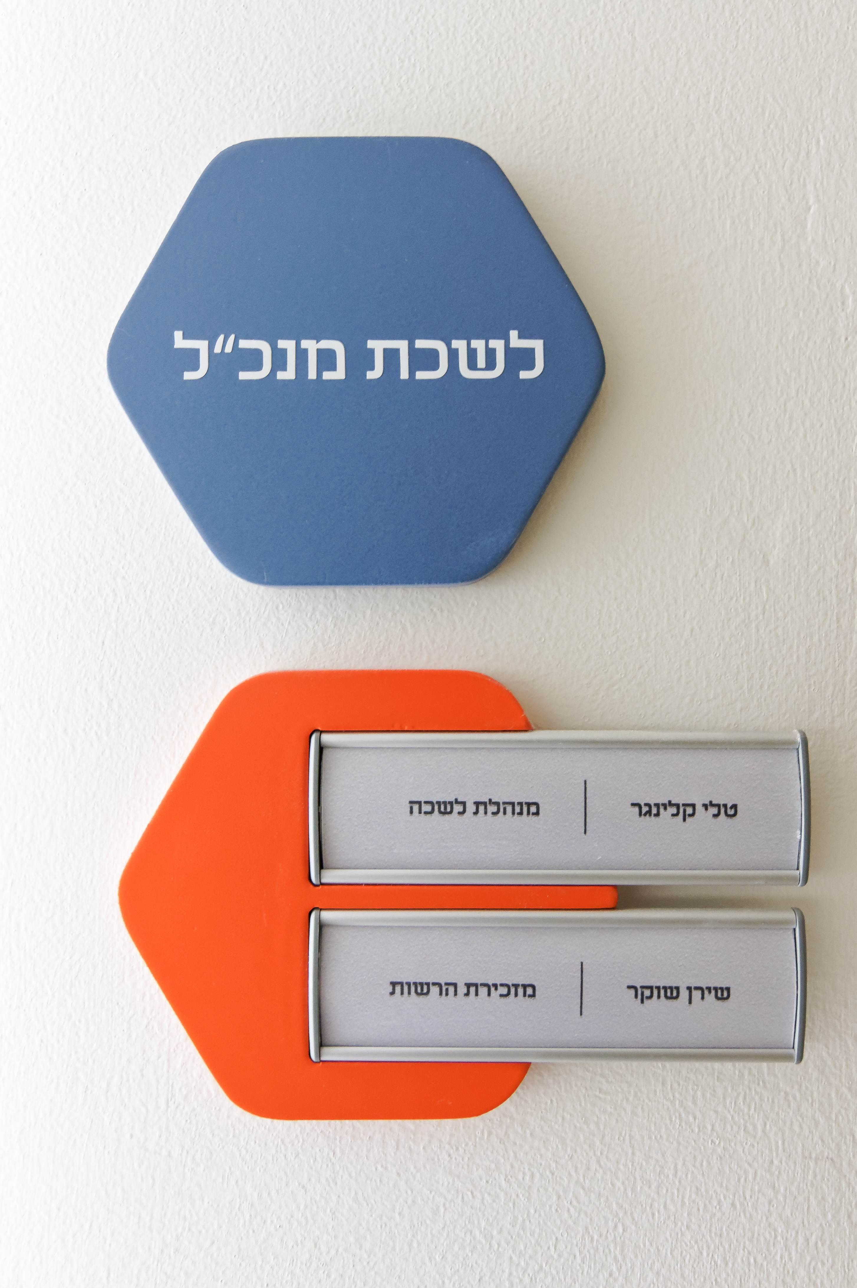עיצוב משרדים שילוט