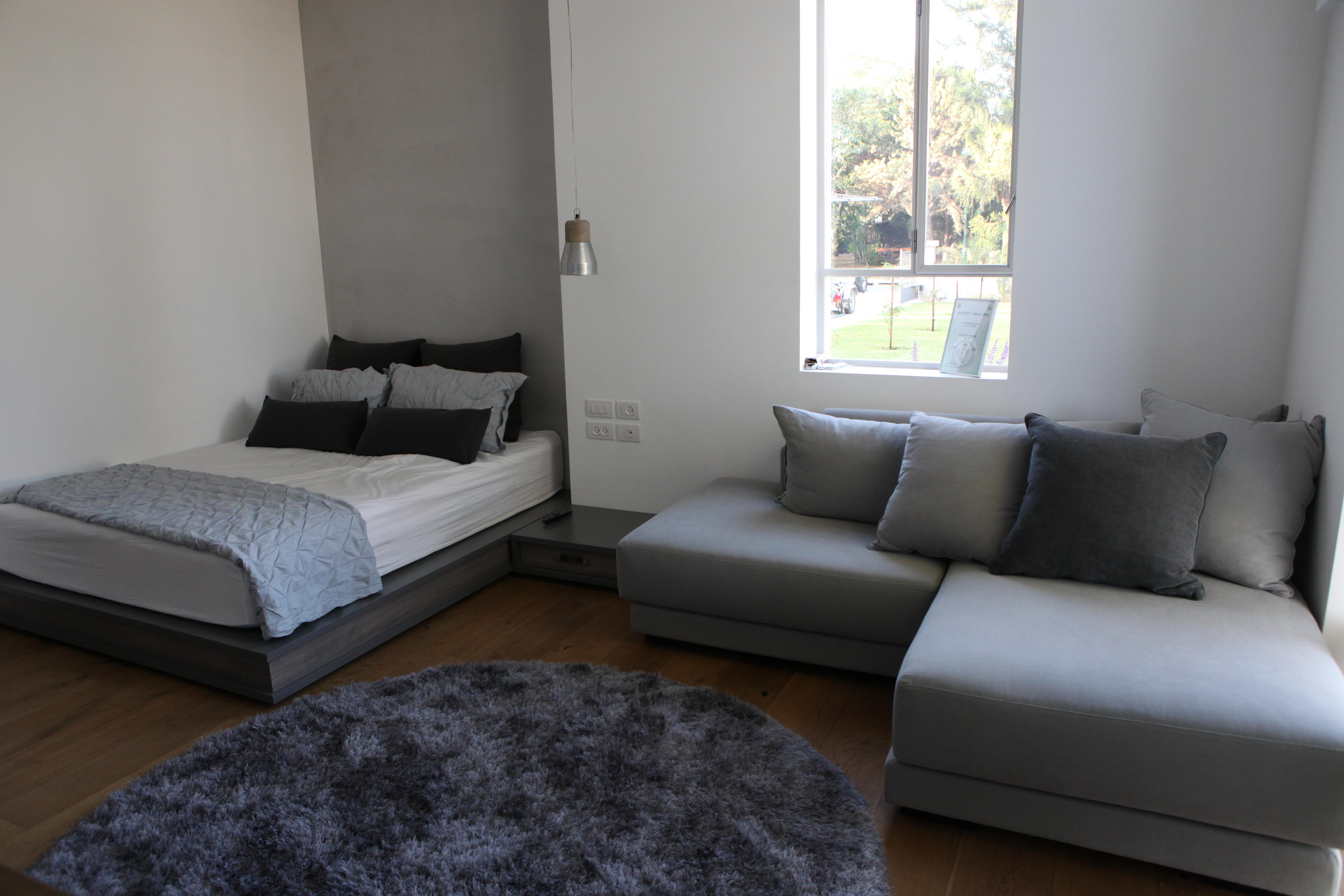 עיצוב חדר נער מיטת במה