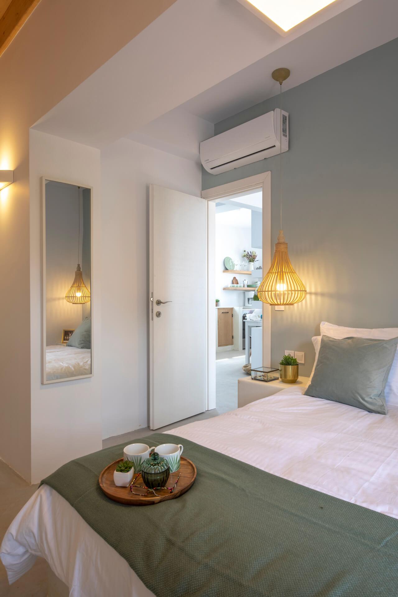 עיצוב חדר שינה בדירת נופש סיגל סיוון ידו