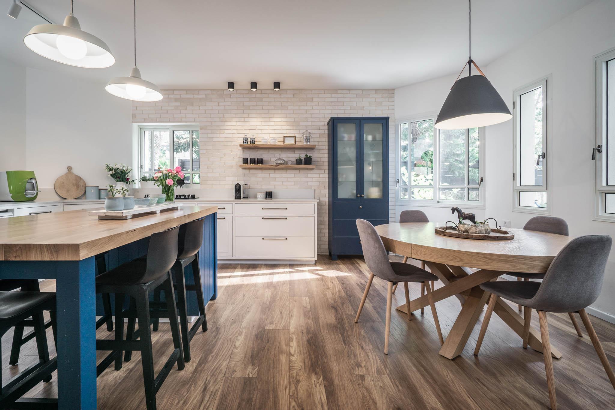 עיצוב מטבח בריקים במטבח