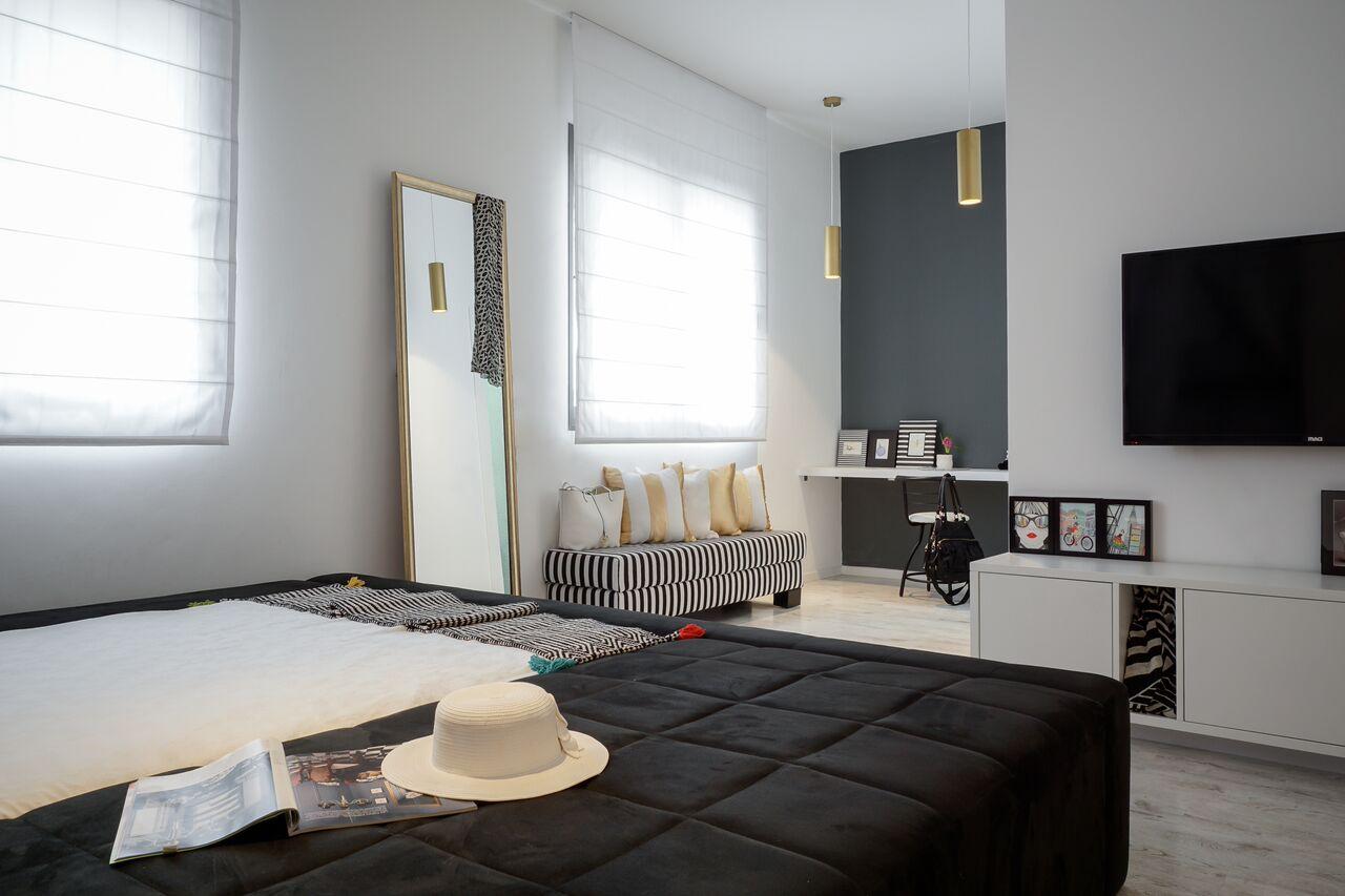 עיצוב חדר נערה בשחור ולבן