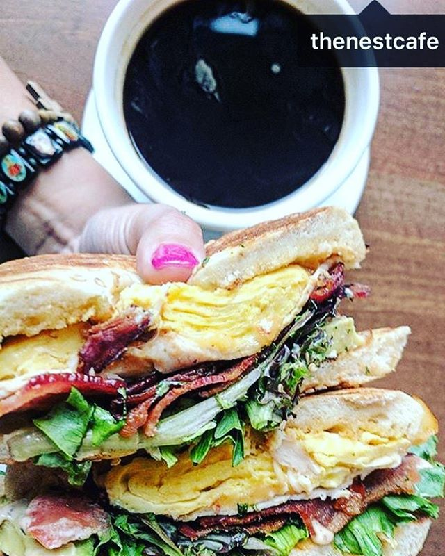 coffee, California, eggs, bacon