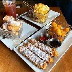 lolly waffle, tots, fries, waffle