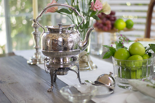 Victorian Era Sheffield Plate Tea Kettle
