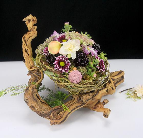 Bird basket, floral bird nest, bird nest, Tabletop Alchemist