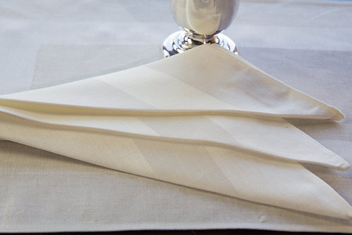 Damask Satin Band Napkin (Set of 6)