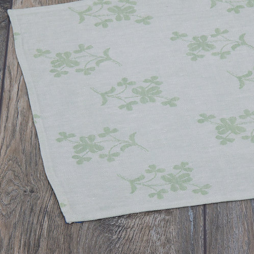 Shamrock - Green Double Damask Tablerunner