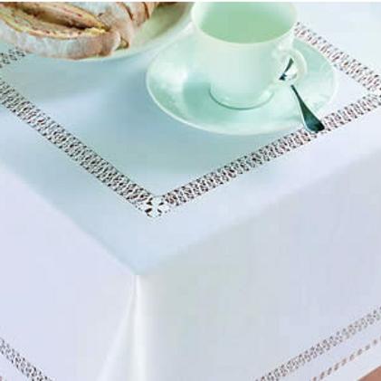 Cavan Cross - White Hand Drawn Threadwork Traycloth